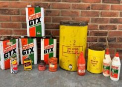 Two Boxes Of Oil Cans & Bottles