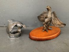Two Vintage Bird Car Mascots