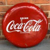 Convex Metal Coca Cola Sign