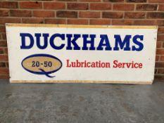 Aluminium Duckhams Lubrication Service Sign
