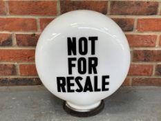 """Vintage Not For Resale"""" Petrol Globe """""""