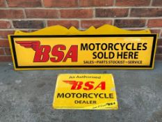 Two Modern BSA Motorcycles Sign