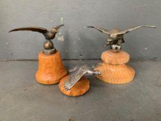Three Vintage Bird Car Mascots