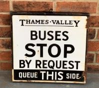 Thames Valley Enamel Sign Buses Stop By Request