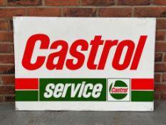 Aluminium Castrol Service Sign