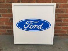 Modern Illuminated Ford Showroom Display Sign