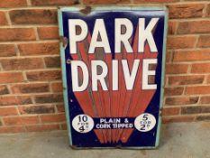 Original Park Drive Enamel Sign