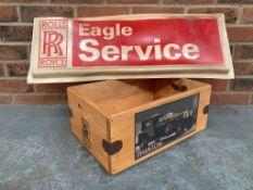 Rolls Royce Eagle Service Sign & Modern Phantom Crate