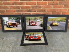 Four Unframed Mounted Racing Photographs