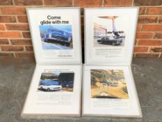 Four Framed Mercedes Prints