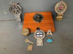 Mixed Lot Car Badges Jaeger Car Clock Etc