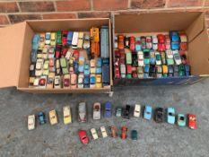 Large Quantity Of Play Worn Dinky, Corgi & Lesney Cars