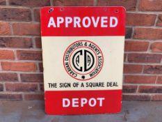 Metal Double Sided Caravan Distributors & Agents Association Sign