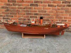 Boston Typhon, Large Wooden Model Boat