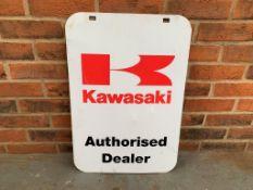 Kawasaki Double Sided Dealership Sign
