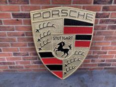 Modern Large Cast Aluminium Porsche Sign