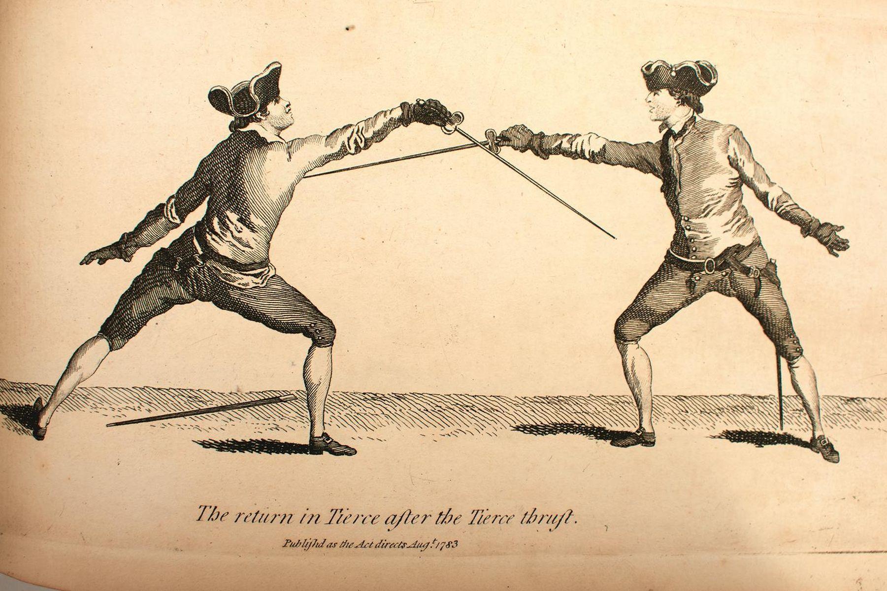 BOOKS: ANGELO DOMENICO (1717?-1802) THE SCHOOL OF FENCING (L'ECOLE DES ARMES), trans. Rowlandson,