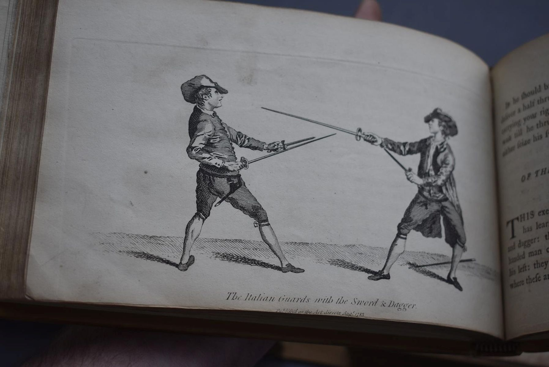BOOKS: ANGELO DOMENICO (1717?-1802) THE SCHOOL OF FENCING (L'ECOLE DES ARMES), trans. Rowlandson, - Image 10 of 11
