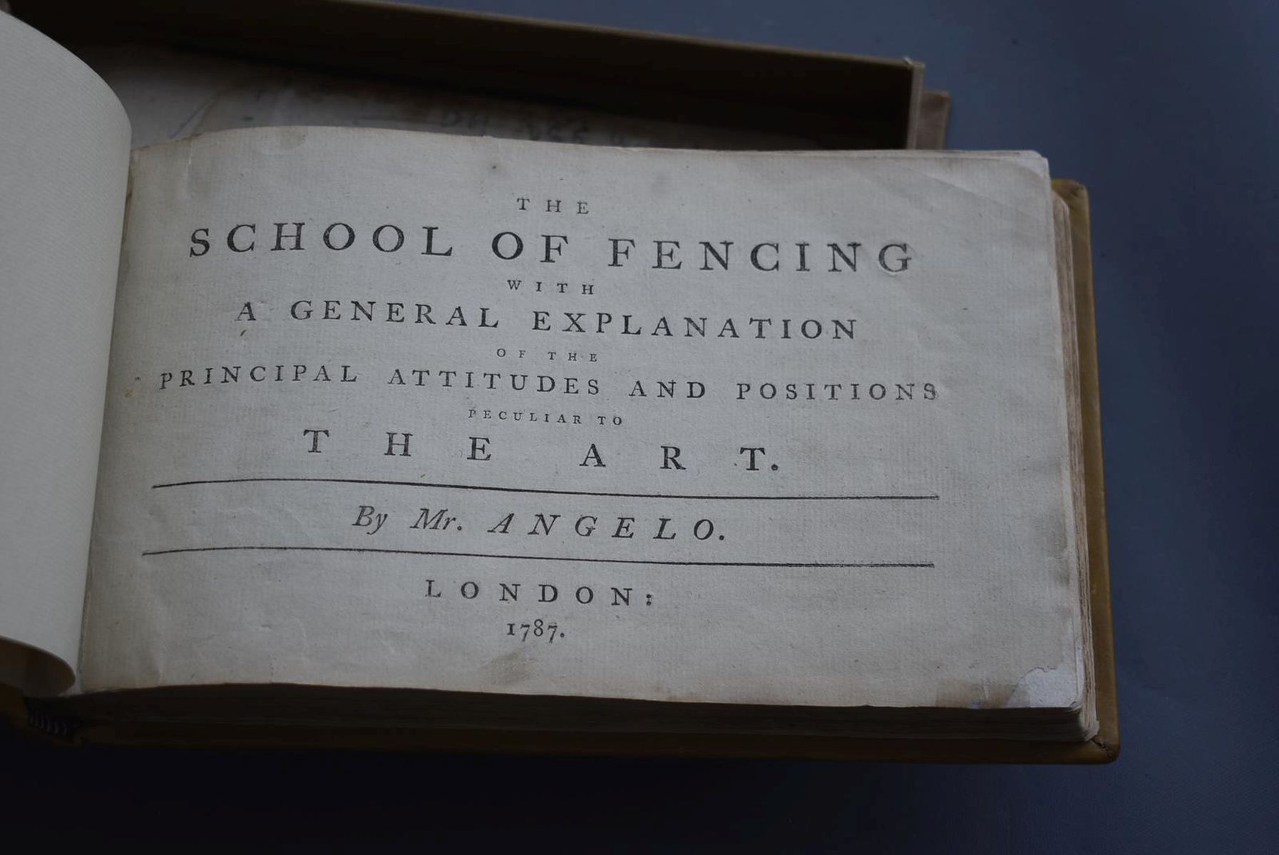 BOOKS: ANGELO DOMENICO (1717?-1802) THE SCHOOL OF FENCING (L'ECOLE DES ARMES), trans. Rowlandson, - Image 9 of 11