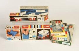 Lego, Konvolut Eisenbahnen, Schienen, Wagen + Zubehör