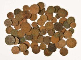 Russland, Lot von Kupfermünzen des 19. Jhd.