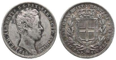 Italien, Sardinien Karl Albrecht 1831-1849, 1 Lire