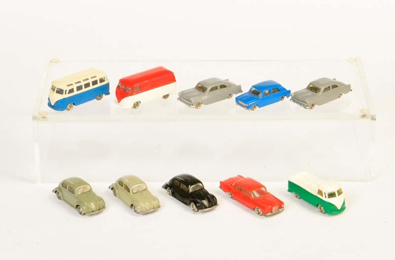 Lego, 7x PKW + 3x VW Bus