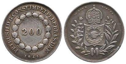 Brasilien, Kaiserreich, Pedro II. 1831-1889, 200 Reis