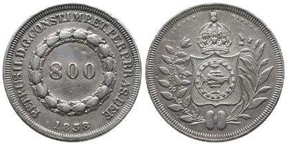 Brasilien, Kaiserreich, Pedro II. 1831-1889, 800 Reis