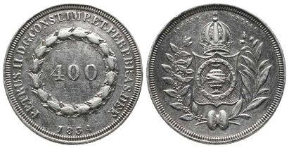 Brasilien, Kaiserreich, Pedro II. 1831-1889, 400 Reis