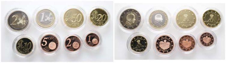 Monaco, Kursmünzensatz