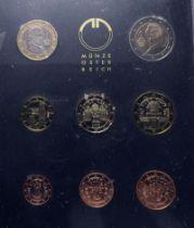 Österreich, Republik, Kursmünzensatz