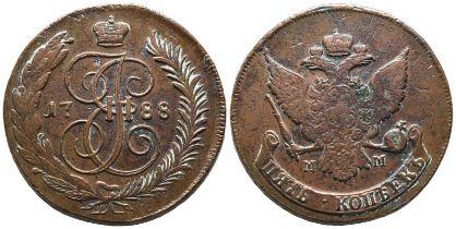 Russland, Katharina II. 1762-1796, 5 Kopeken