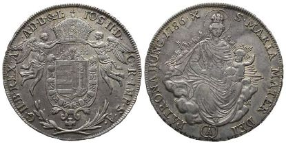 Römisch Deutsches Reich, Josef II. 1765-1790, 1/2 Madonnentaler