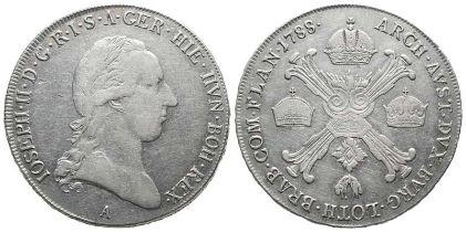 Römisch Deutsches Reich, Josef II. 1765-1790, 1/2 Kronentaler