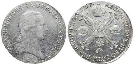Römisch Deutsches Reich, Franz II. 1792-1806,1/2 Kronentaler