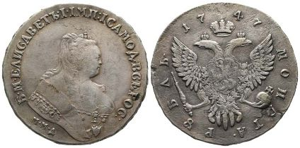 Russland, Elisabeth 1741-1761, Rubel