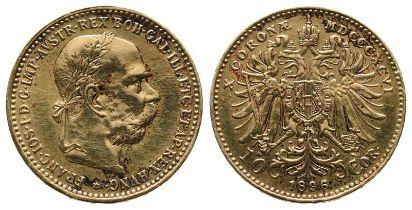 Römisch Deutsches Reich, Franz - Joseph I. 1848- 1916, 10 Kronen