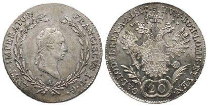 Römisch Deutsches Reich, Franz I. (II.) 1792-1835, 20 Kreuzer