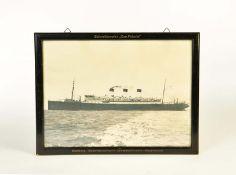 """Schiffsfoto in Originalrahmen, Schnelldampfer """"Cap Polonio"""""""