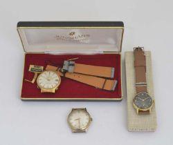 Kienzle, Junghans + Dugena, 3 Armbanduhren