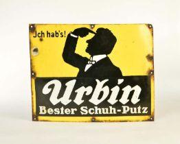 """Emailleschild """"Urbin Bester Schuh-Putz"""""""