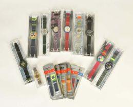 10 Swatch Uhren + 6 Armbänder