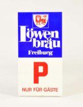 """Emailleschild """"Löwenbräu"""""""