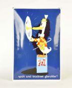 """Emailleschild """"Pril"""" von 1985 + Plakat 50er Jahre"""