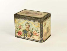 "Bonbon Dose ""Kaiser Wilhelm + Auguste Viktoria"""
