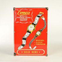 "Emailleschild ""Express Watches"""