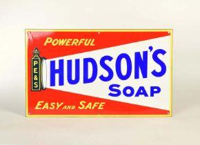 "Emailleschild ""Hudson's Soap"""