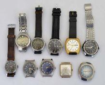 BWC, Silberta, Citizen, Anker, Eisenhardt, Meister Anker + Ingersoll, 10 Armbanduhren