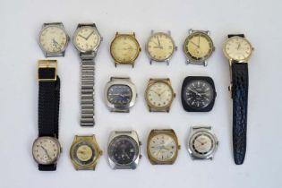 Alpina u.a., 14 Armbanduhren (teilw. starke Gebrauchsspuren)